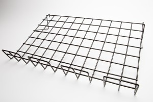 "Grid Shelf Slopping 14"" x 22.5"" Black"