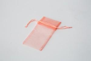 Organza Drawstring Pouches Pink
