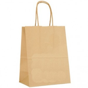 "Shopping Bags 8"" W  x  4 3/4"" D  x  10 1/2"" H Brown Kft"