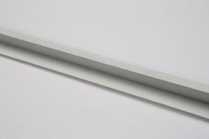 White Vinyl Slatwall Trim 8'