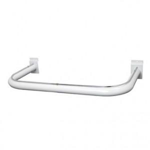 """Slatwall U Shape Hangrail 1.25"""" White"""