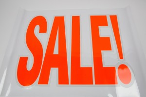 """Sale"" Sign Large Clear"