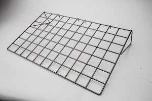 Flat Gridwall Shelf Black 2