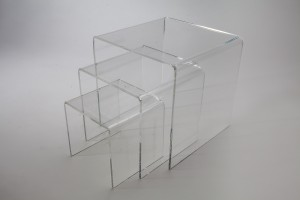 Set of 3 Large Square Acrylic Risers