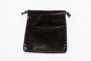 Soft Velvet Drawstring Pouch Black Only