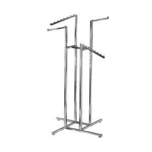 Clothing Rack 4 Way Square Arms