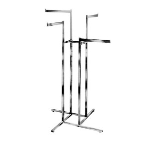 Clothing Rack 4 Way Rectangle Arms