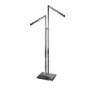 Clothing Rack 2 Way Slanted Rectangle Arm