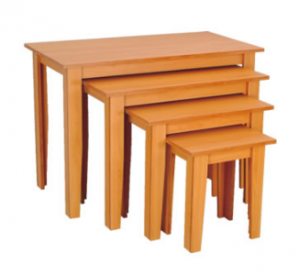 Maple 4 Piece Nesting Table