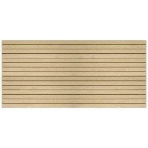 MDF Slatwall Panel 4' x 8' Maple Finish With Aluminum Insert