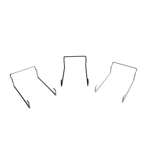 Slatwall Single Cap Rack Black