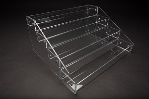"Riser Stair Step 4 Tier Clear 8.75"" x 18 3/8"" x 15""  x 3"