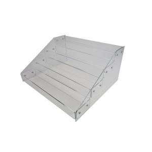 "Riser Stair Step 4 Tier Clear 8.75"" x 18 3/8"" x 15"" 2"