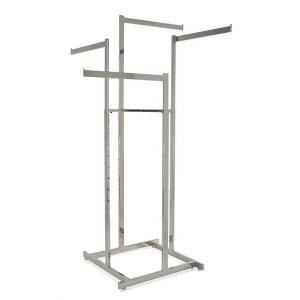 4 Way Garment Rack Straight Arms