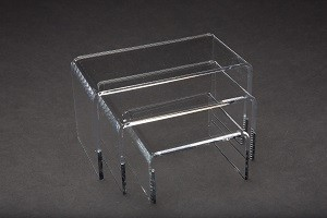 Riser Beveled Clear 3 Set 2