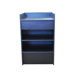 "Register Stand Top 24"" L x 20"" W x 38"" H Black Well Back"