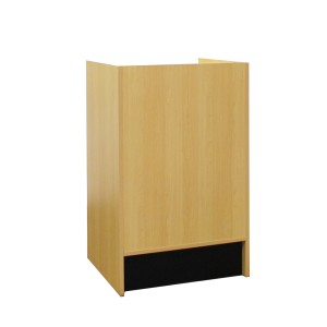 "Register Stand Top 24"" L x 20"" W x 38"" H Maple Well Black Base"