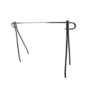 "Single Bar Clothing Rack 48"" W/Blk"