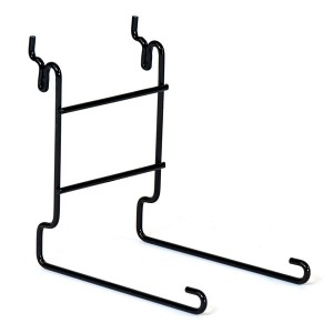 Slatwall Single Cap Rack Black