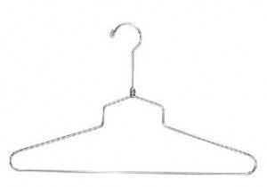 "Dress Hanger 16"" Chrome Metal 2"