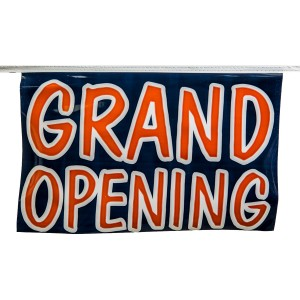 "Pennant Flag ""Grand Opening"" 60' 18"" x 12"" Blue"