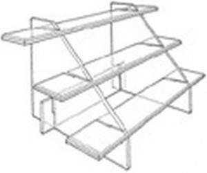 STAIR STEP DISPLAY 3 TIER 13X26X13 CLEAR