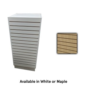Slatwall Cube Tower Maple 24x24x54