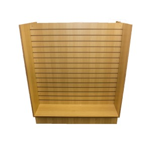 "Slatwall Gondola  49"" x 24"" x 54"" Maple"