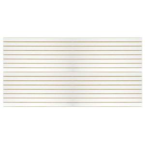 MDF Slatwall Panel 4' x 8' White Finish With Aluminum inserts