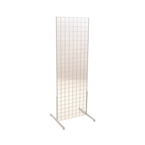Gridwall Complete Free-Standing Floor Fixture. White 2' x 6 '