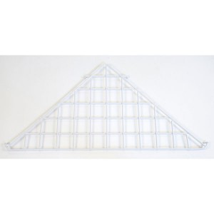 Grid Triangle Shelf White: WTES-90