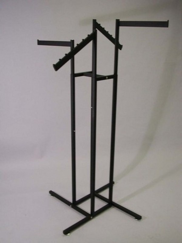 Black Tube Rack with 2 Slanted and 2 Straight Arms 2