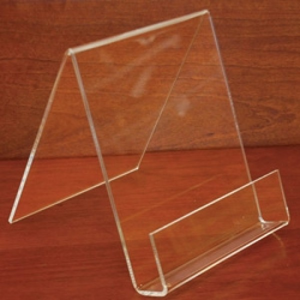 "Clear Acrylic Easel With Lip 4"" 2"