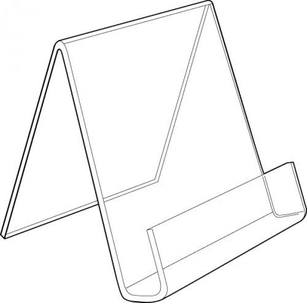 "Clear Acrylic Easel With Lip 4"" 3"