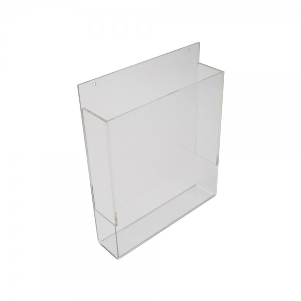 wall mounted acrylic brochure holder 8 1 2 w x 11 h. Black Bedroom Furniture Sets. Home Design Ideas