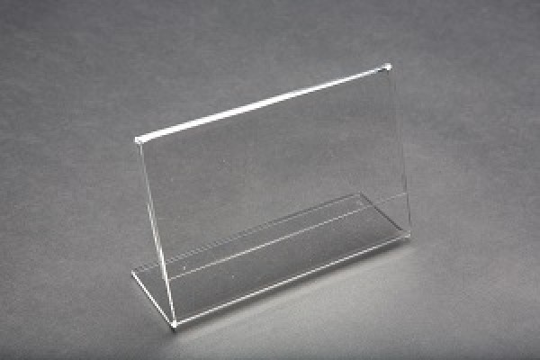 Acrylic Slantback Countertop Sign Holder Clear 2