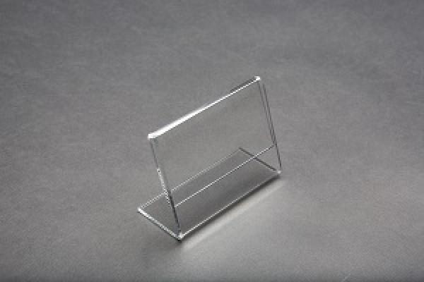 Acrylic Slantback Countertop Sign Holder Clear 5