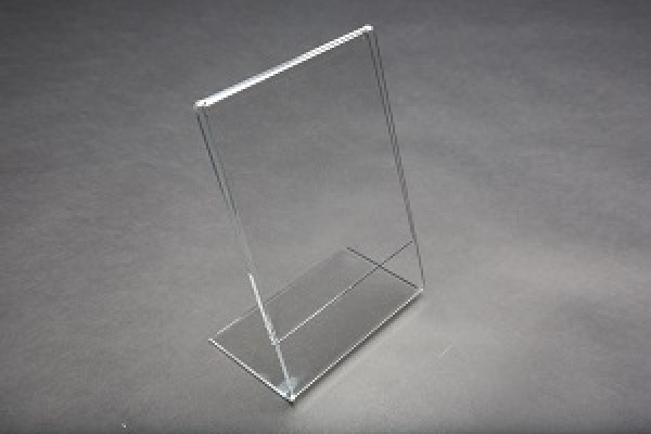 Acrylic Slantback Countertop Sign Holder Clear 4