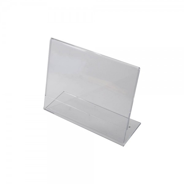 "7""w x 5.5""h Clear Acrylic Slantback Countertop Sign Holder"