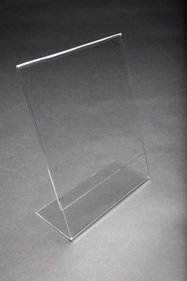 Acrylic Slantback Countertop Sign Holder Clear 8