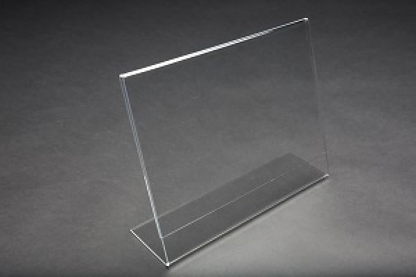 Acrylic Slantback Countertop Sign Holder Clear 9