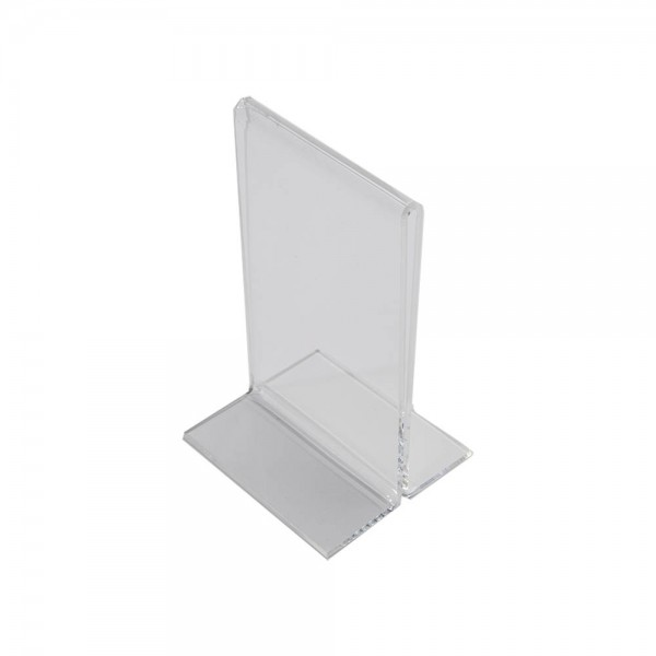 Acrylic Countertop Sign Holder Clear 1