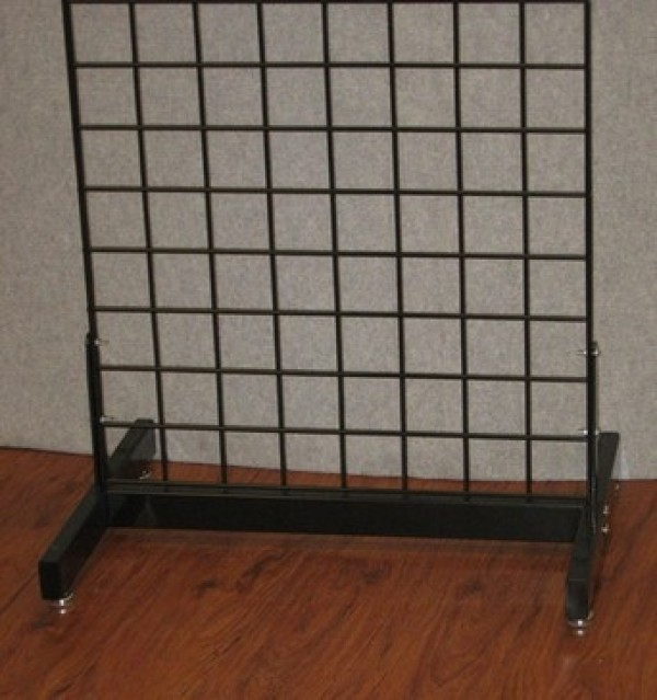 Black Metal H Gridwall Base