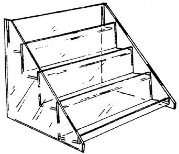 4 Tier Countertop Acrylic Shelf Display  2