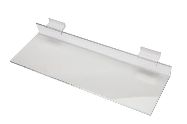 AssAcrylic Slatwall Shelf 5