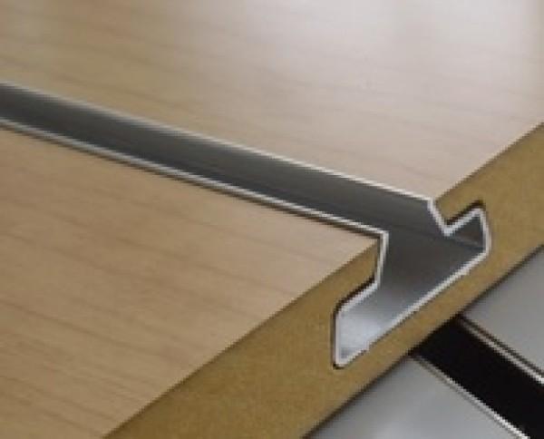 "Slatwall Aluminum Metal Insert 96"" 2"