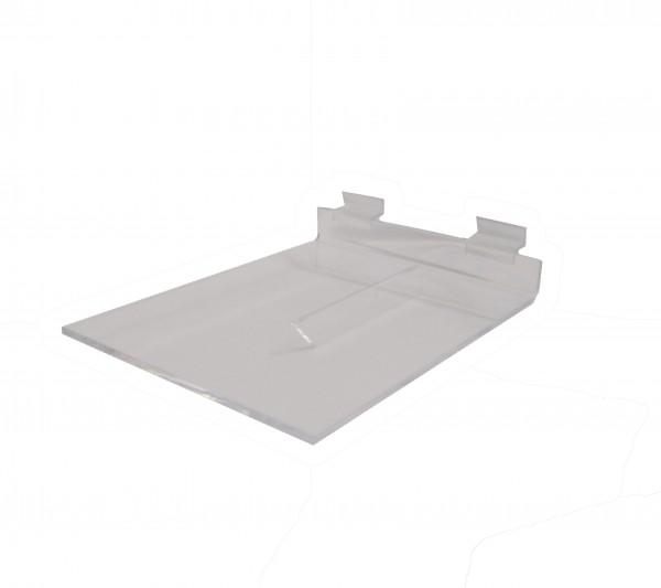 Acrylic Slatwall Shelf With Brace