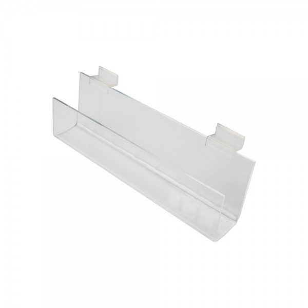 Slatwall Acrylic J Rack With Open Ends