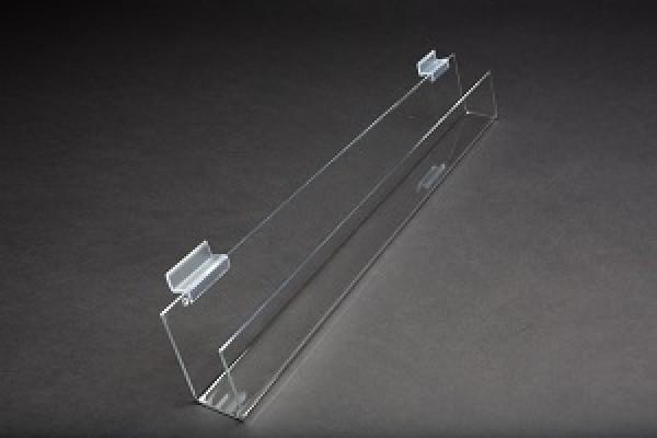 Slatwall Acrylic J Rack With Open Ends 3