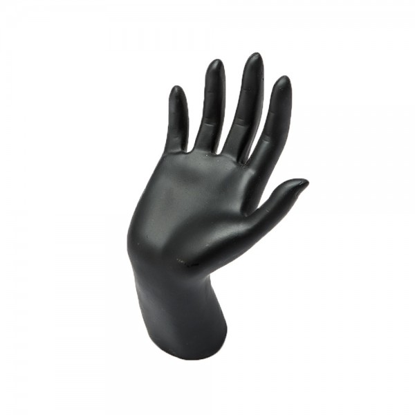 """Black Cupped Hand Jewelry Display 5 1/2"""""""